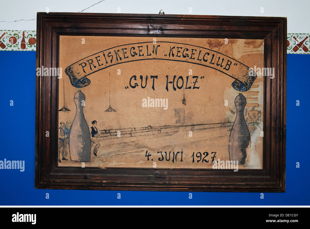Sport Schüssel Kolmanskuppe Kolmanskop Kegeln Liga '' Gut Holz'' Lüderitz Namibia Preis Stockbild