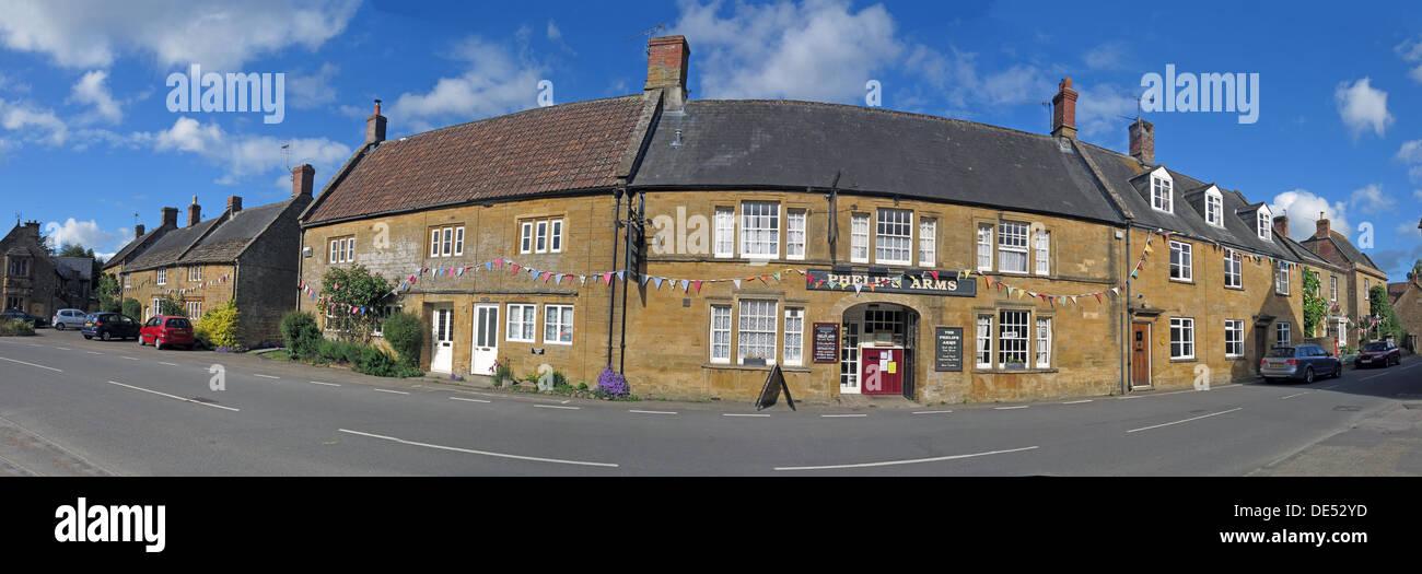 Laden Sie dieses Alamy Stockfoto Phelips Arme Panorama, Montecute, Somerset, England, UK - DE52YD