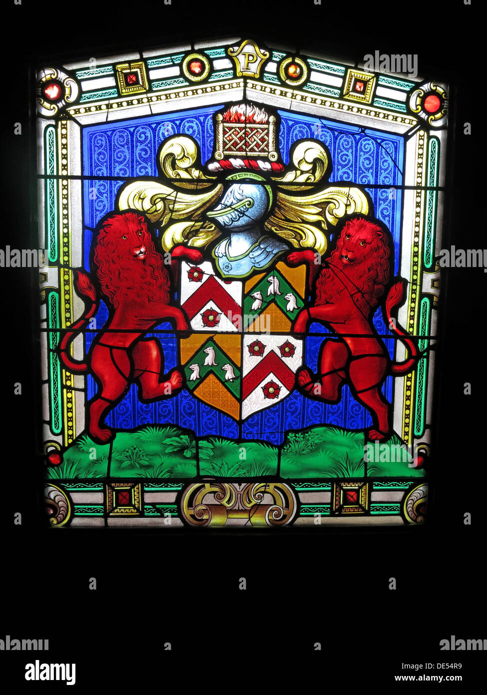 Laden Sie dieses Alamy Stockfoto Glasmalerei von Montecute House, Somerset, England - DE54R9