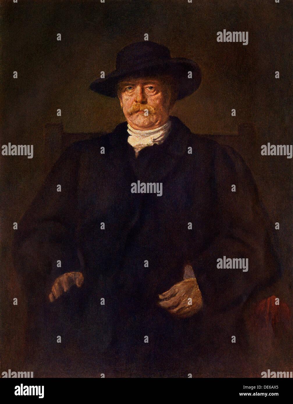 Preußischen Staatsmann Otto von Bismarck. Stockbild