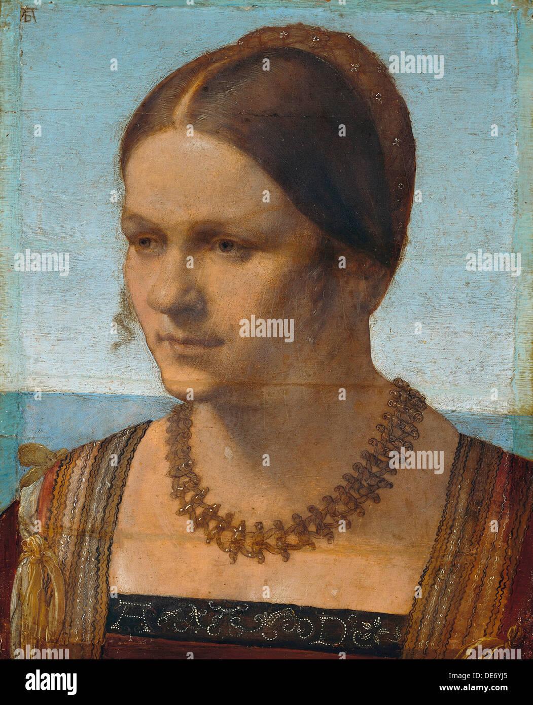 Porträt einer jungen venezianischen Dame, 1506. Künstler: Dürer, Albrecht (1471-1528) Stockbild