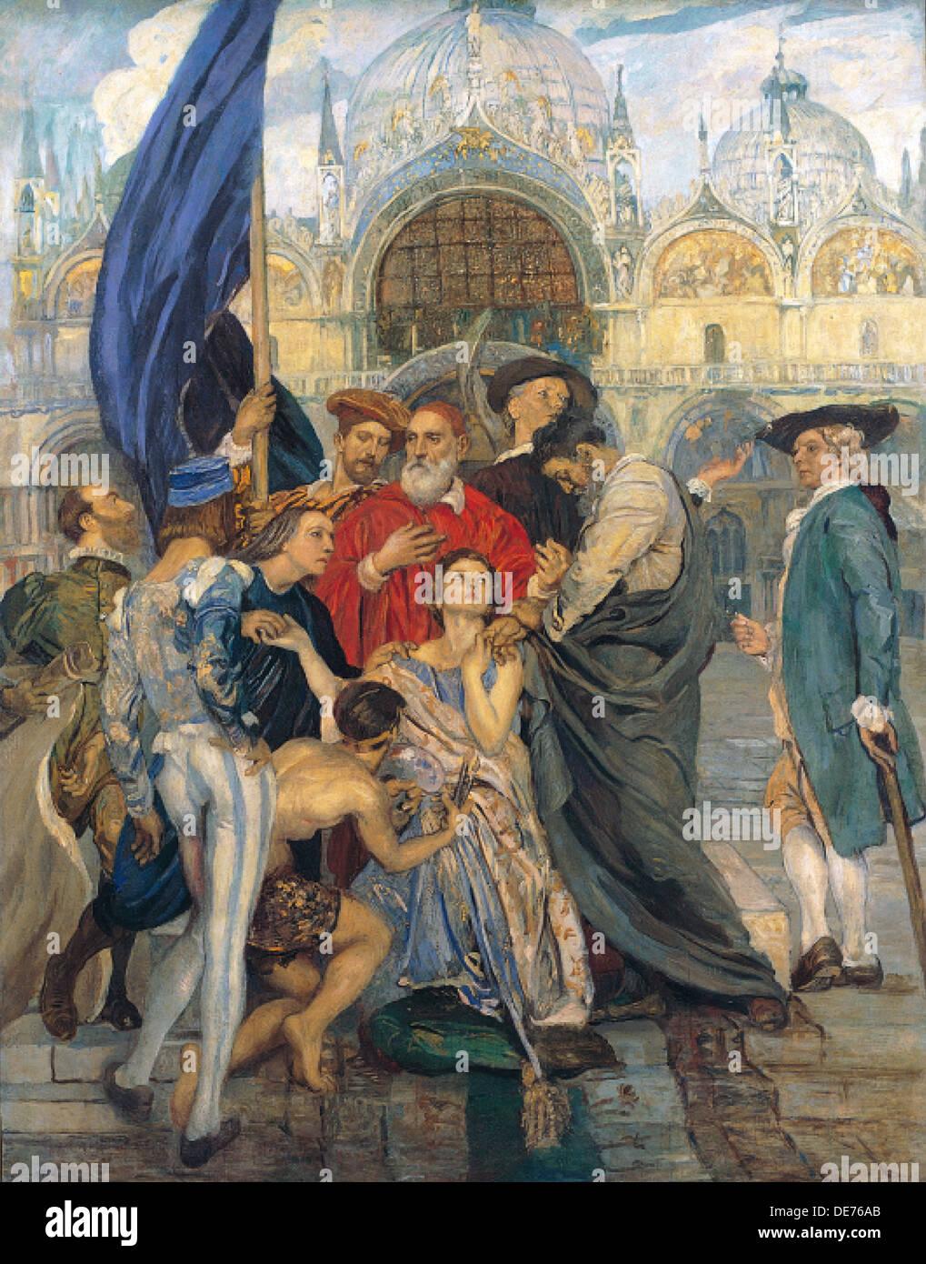 Die venezianischen Maler, 1937. Künstler: Tito, Ettore (1859-1941) Stockbild
