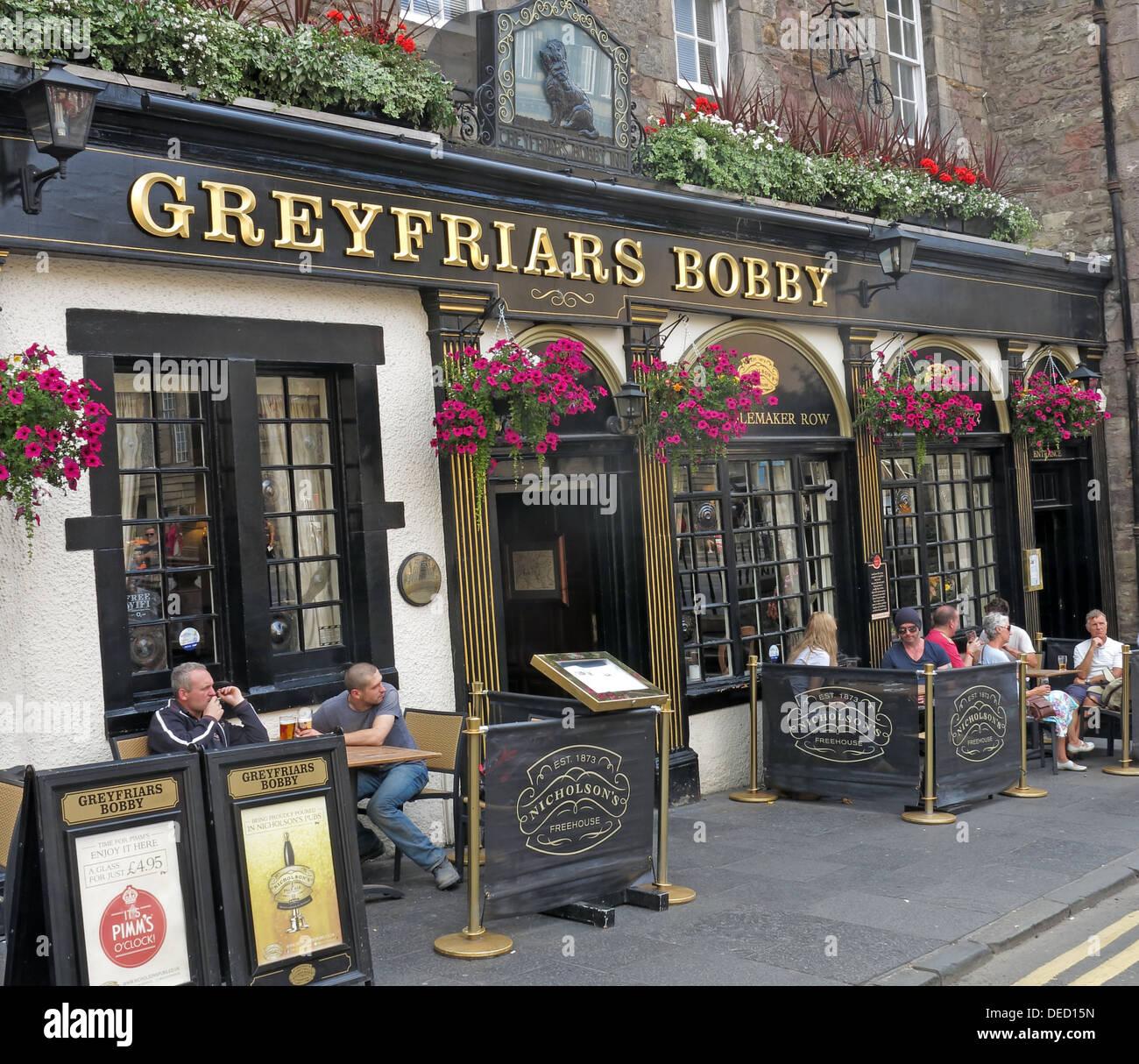 Laden Sie dieses Alamy Stockfoto Greyfriars Bobby bar außen Hauptstadt Edinburgh, Schottland, Vereinigtes Königreich - DED15N