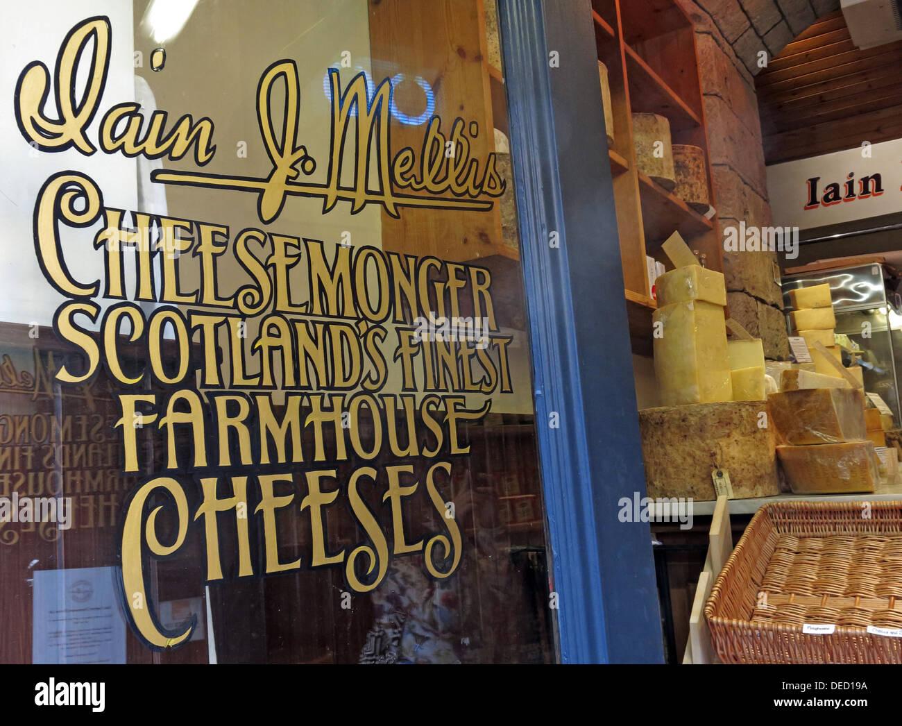Laden Sie dieses Alamy Stockfoto Iain Mellis Käser, Victoria St, Edinburgh, Schottland, Großbritannien - DED19A