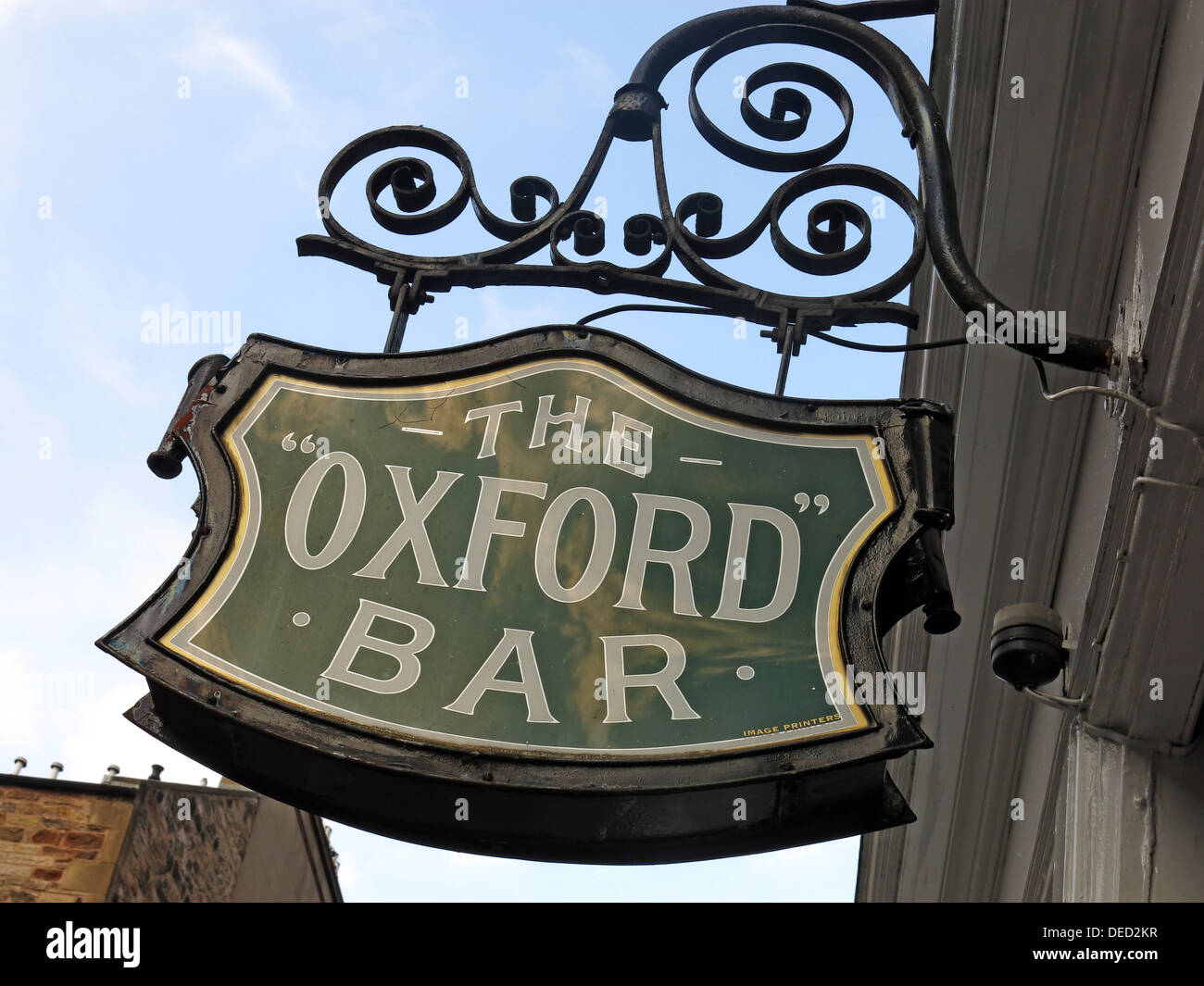 Laden Sie dieses Alamy Stockfoto Schild an der Oxford-Bar. Ein Wirtshaus befindet sich auf der jungen Straße, in der New Town von Edinburgh, Schottland. Insp Rebus der lokalen - DED2KR
