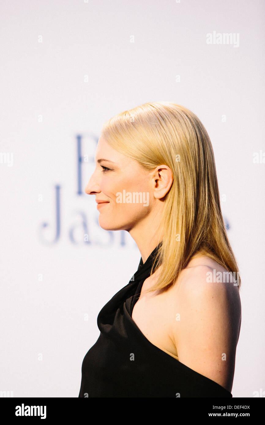 "Cate Blanchett ""Blaue Jasmin"" - UK Film Premiere - roten Teppich Ankünfte Stockbild"