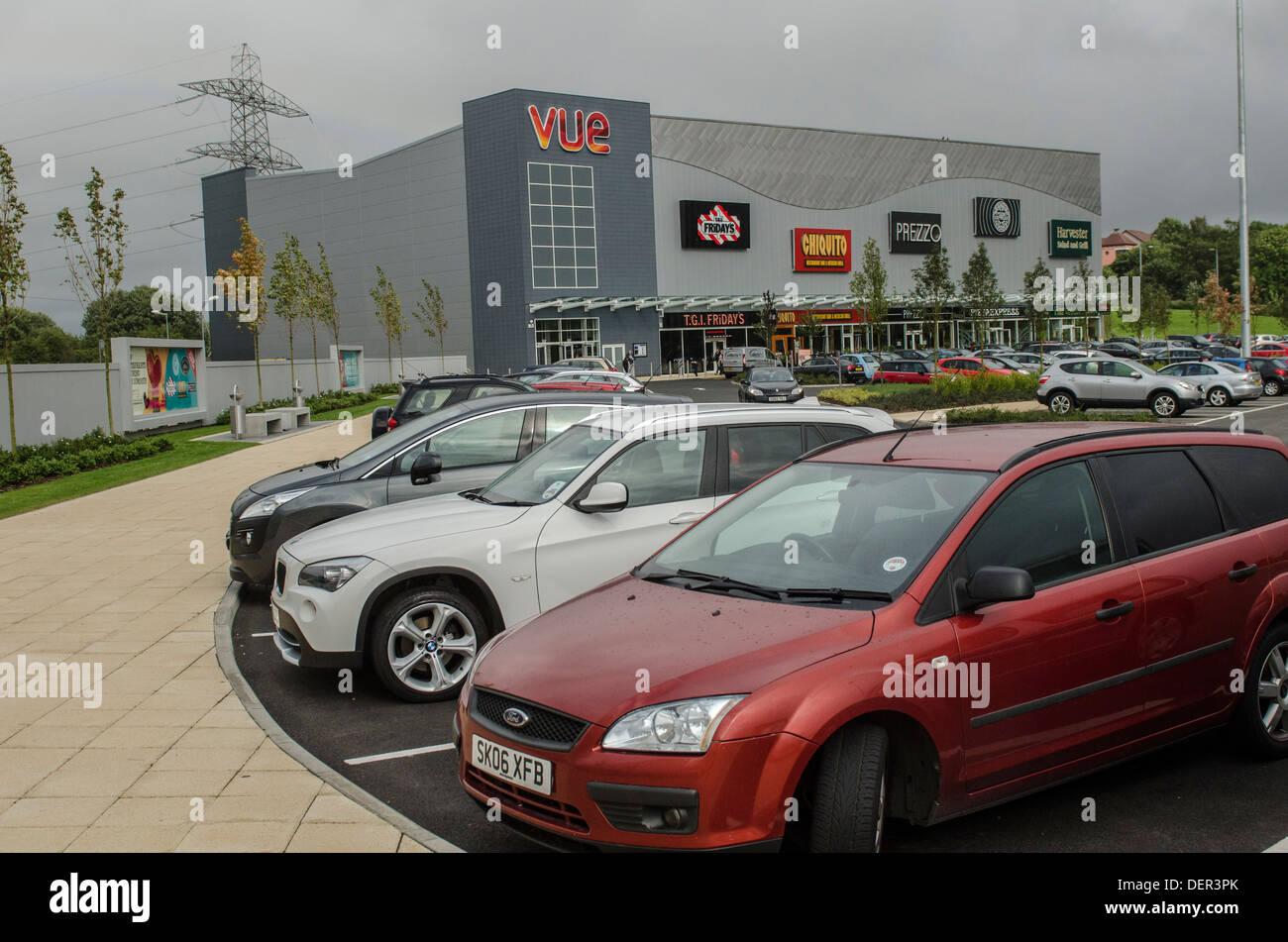 Vue Kino Glasgow Fort Retail Park-Glasgow, Schottland-Site im Besitz von British Land PLC. Das Fort Retail Park, Stockbild