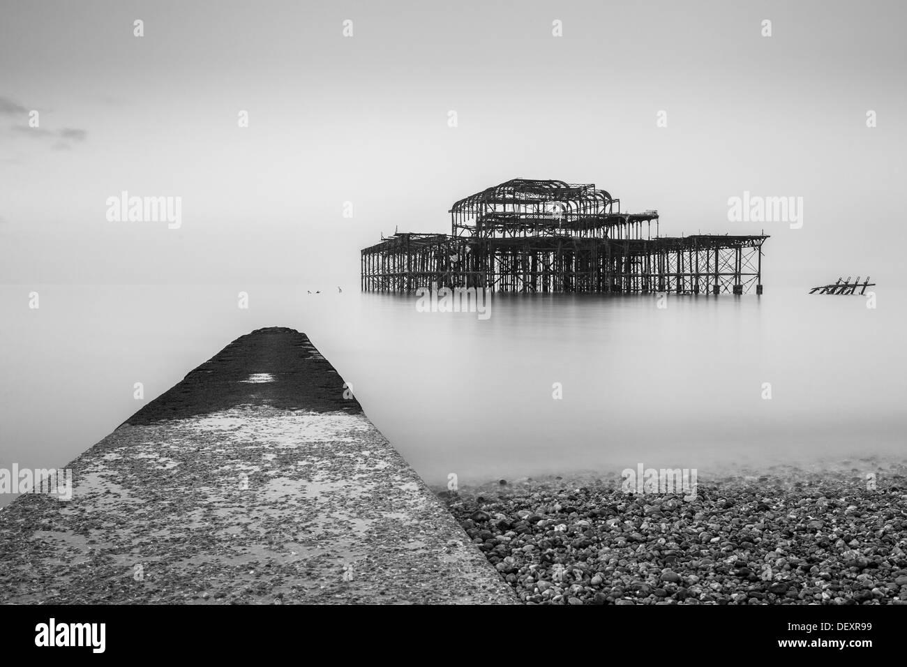 Pier West, Brighton, Sussex, England, Vereinigtes Königreich, Europa Stockbild