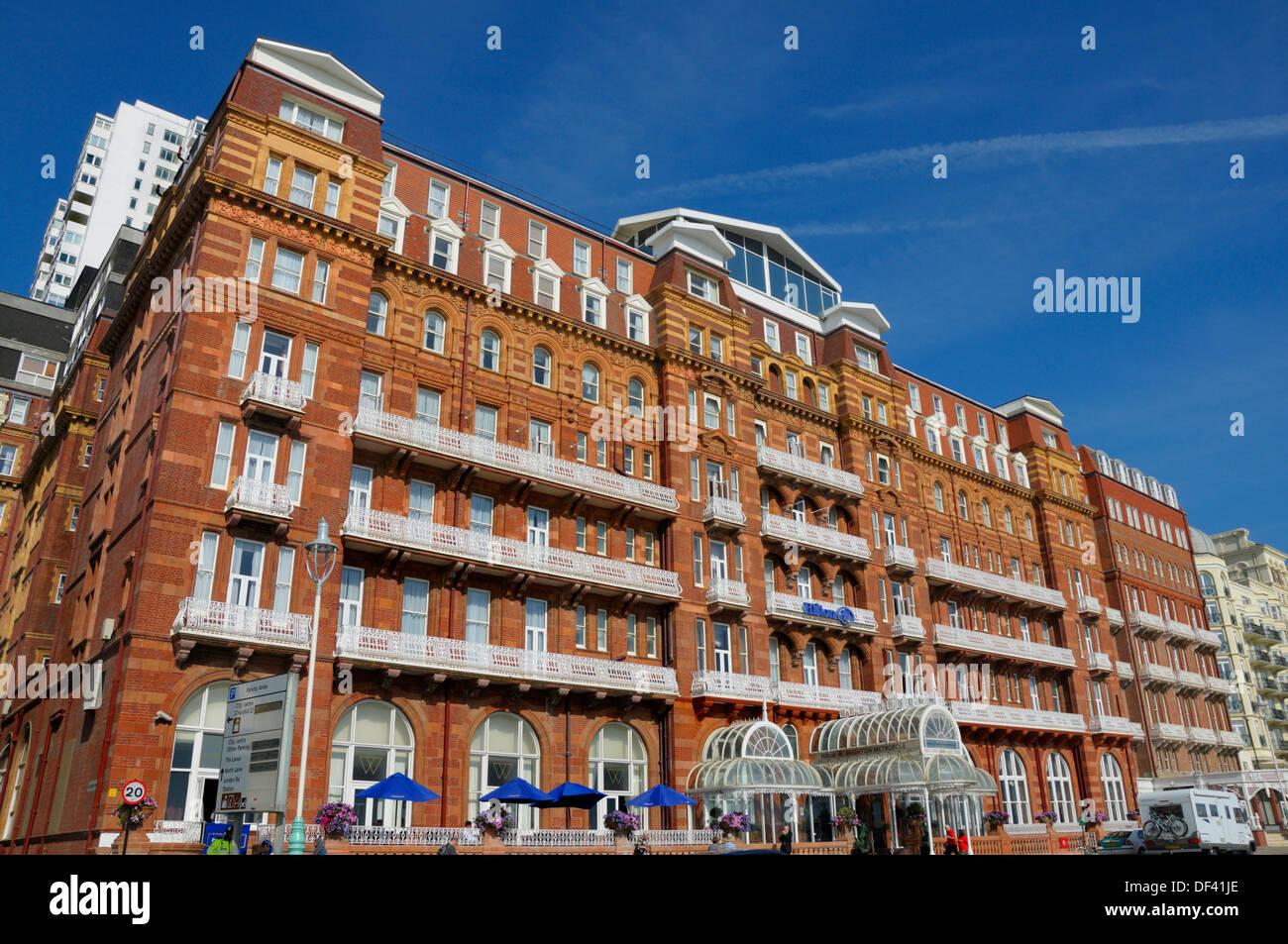 Brighton, East Sussex, England, UK. Hotel Hilton Brighton Metropole Stockbild