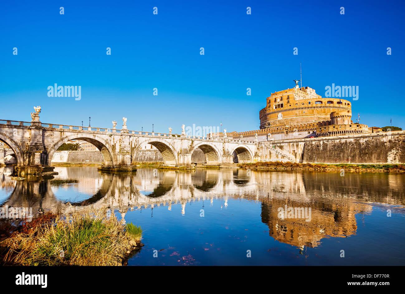 Angelo Festung, Rom Stockbild