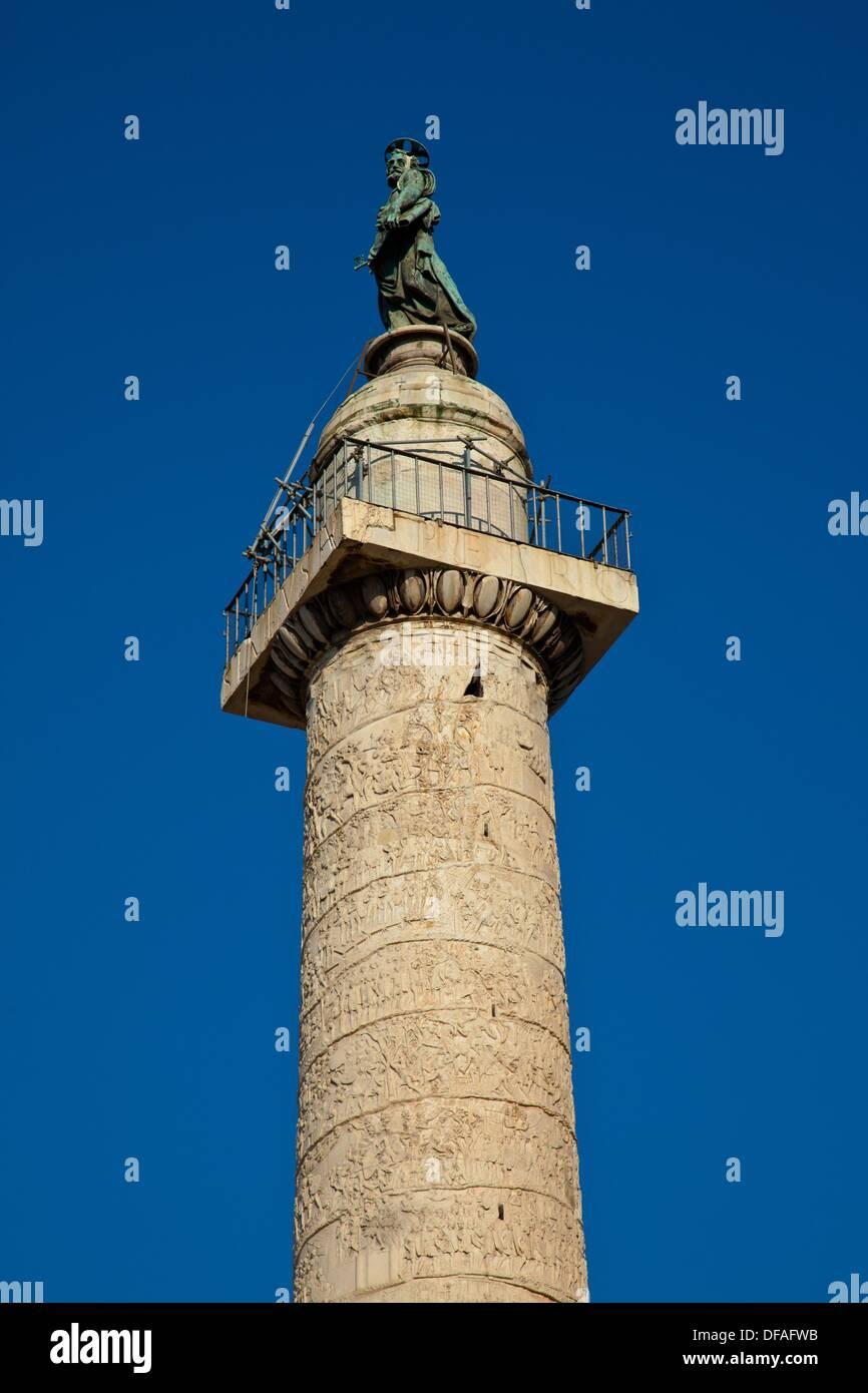 Trajan´s Säule in Rom, Latium, Italien Stockbild