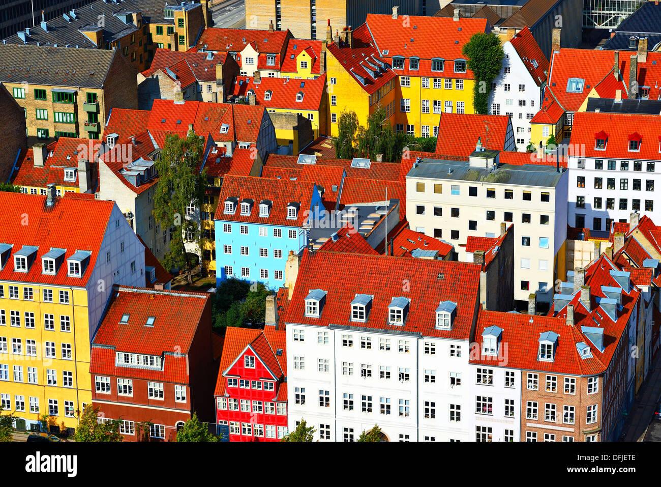Wohngebäude in Kopenhagen, Dänemark. Stockbild