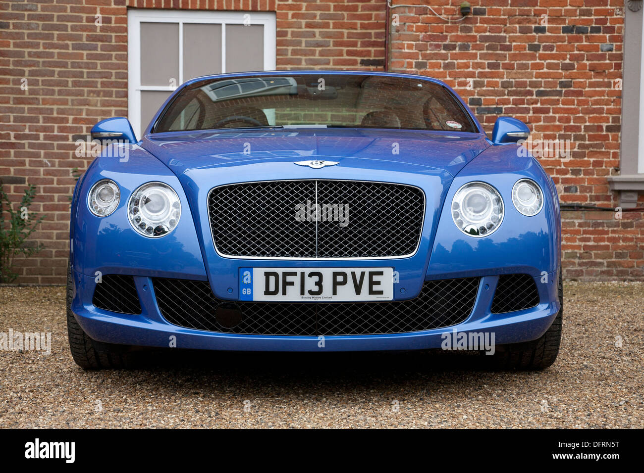 Bentley Continental GT Speed bei The Society of Motor Manufacturers and Traders (SMMT) test-Tag Stockbild