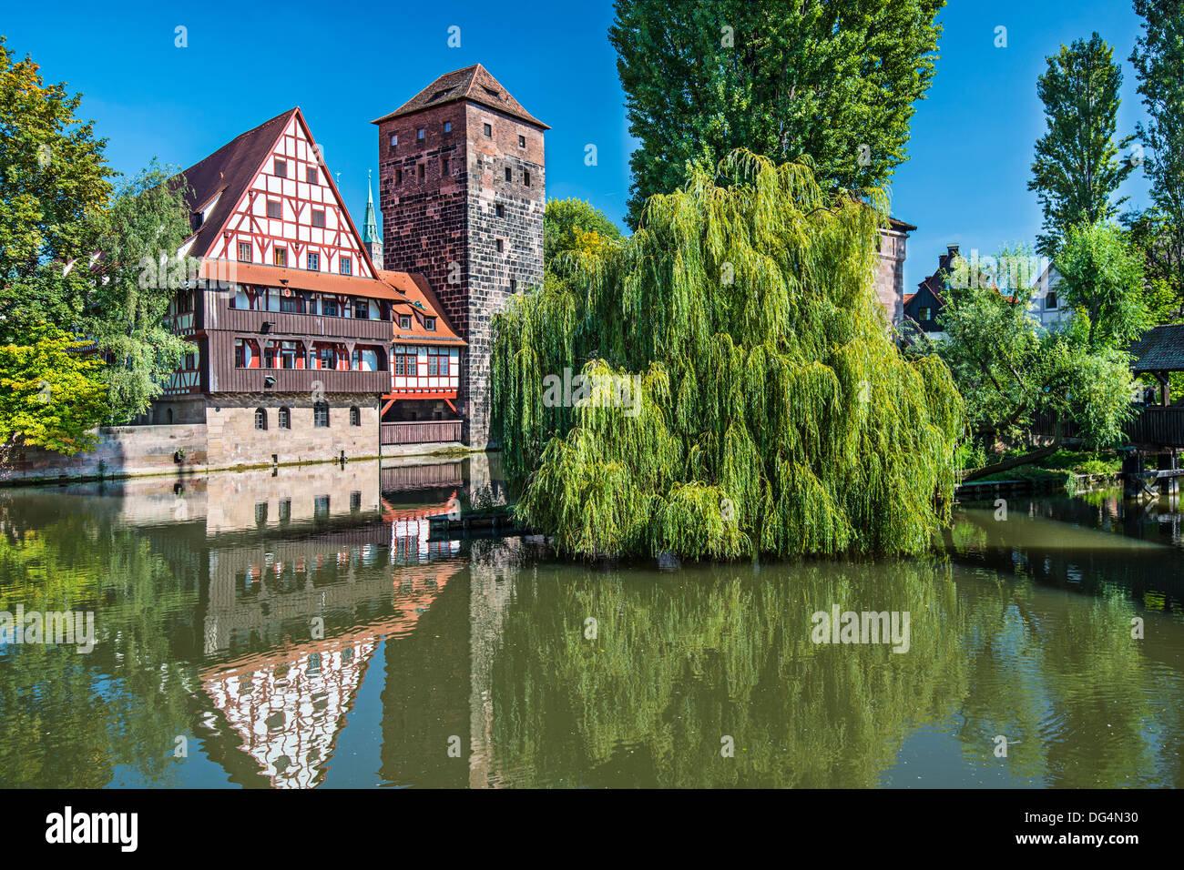 Des Henkers Brücke in Nürnberg, Deutschland Stockbild