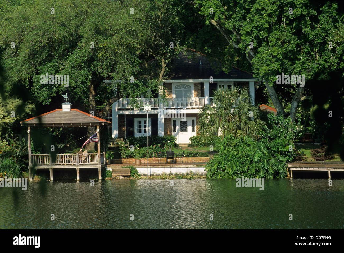 Haus am Fluss Mississippi Louisiana Vereinigte Staaten