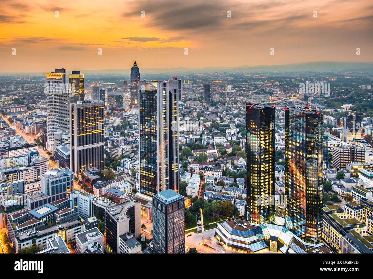 Stadtbild von Frankfurt am Main, das Finanzzentrum des Landes. Stockbild