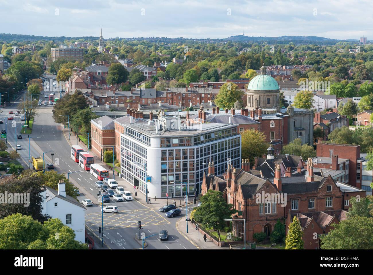 Die Hagley Road, Edgbaston, Birmingham, England Stockbild