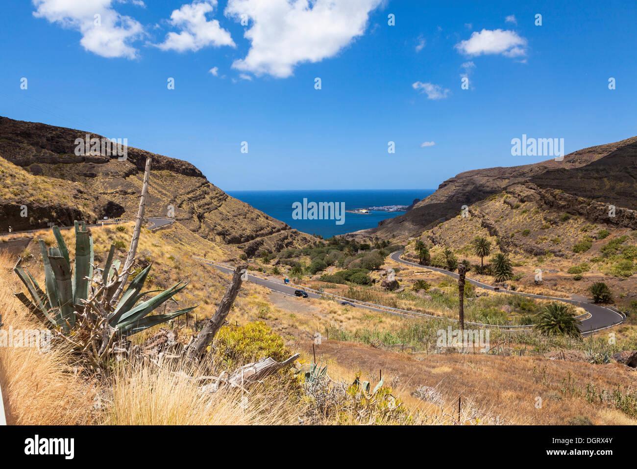 Highlands, Agaete, Gran Canaria, Kanarische Inseln, El Risco, Spanien Stockbild