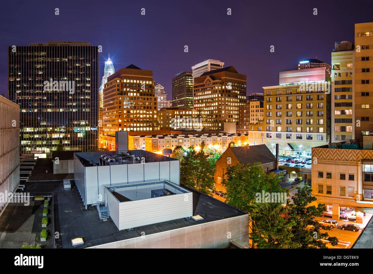 Hartford, Connecticut, USA Innenstadt Stadtbild. Stockbild