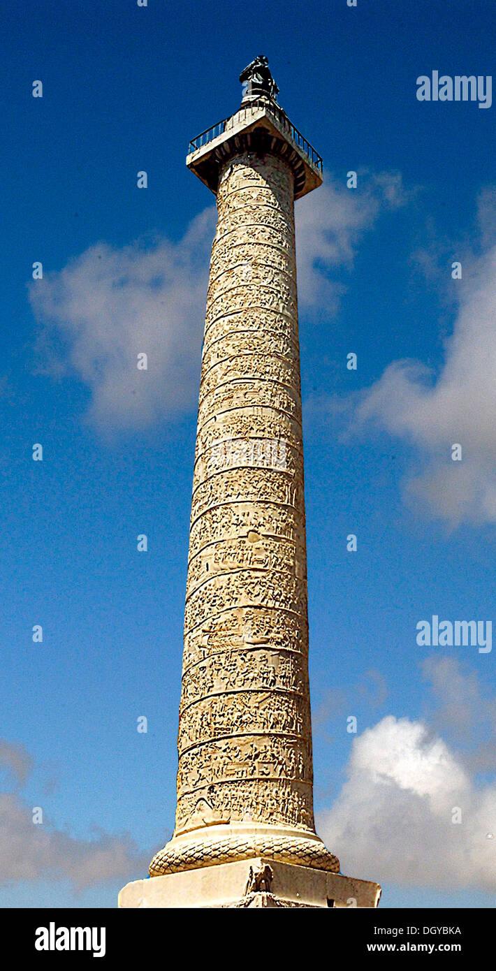 5730. Spalte von Trajan aus 112 n. Chr. Rom Stockbild
