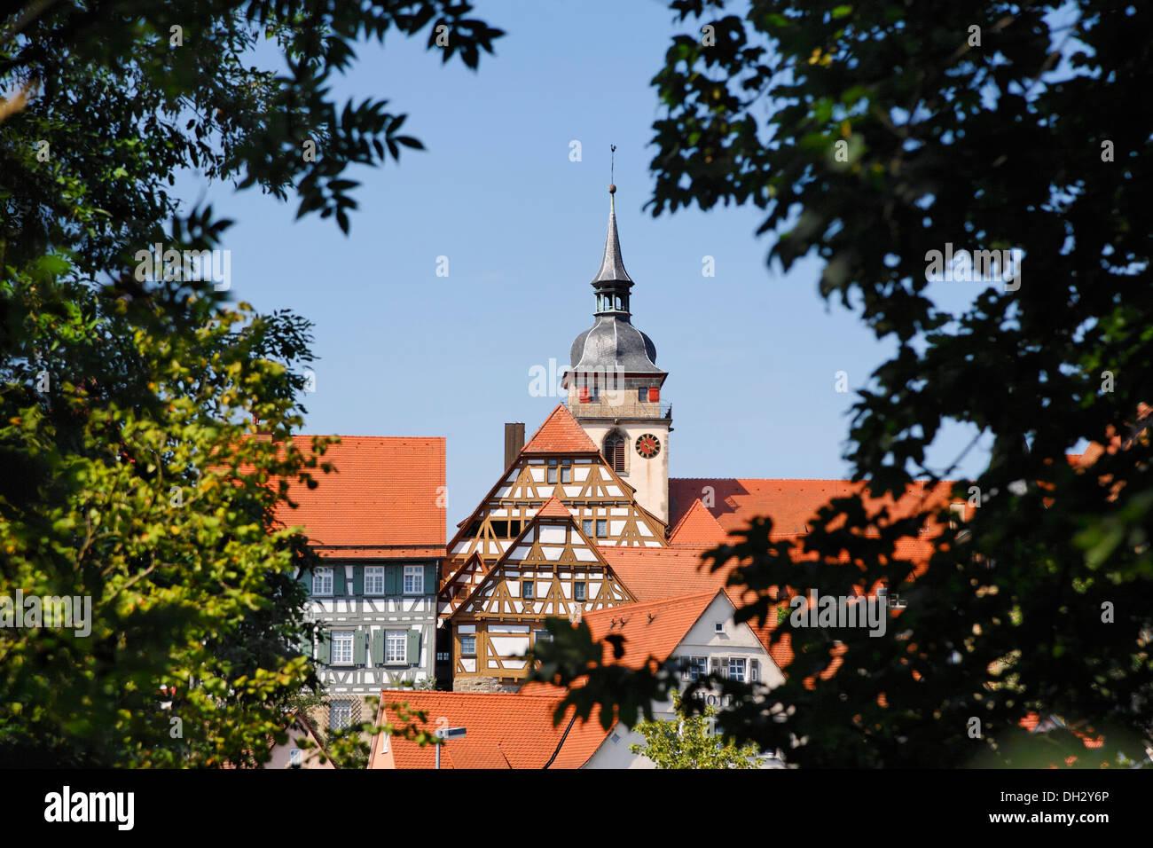 Deutschland Baden Württemberg Bietigheim Häuser Dächer