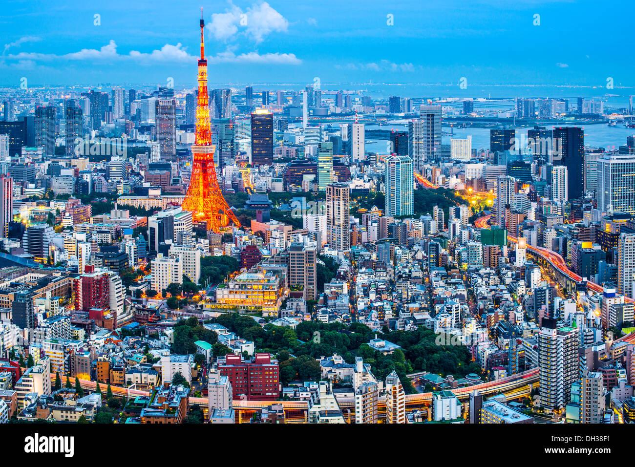 Tokyo Tower in Tokio, Japan Stockbild