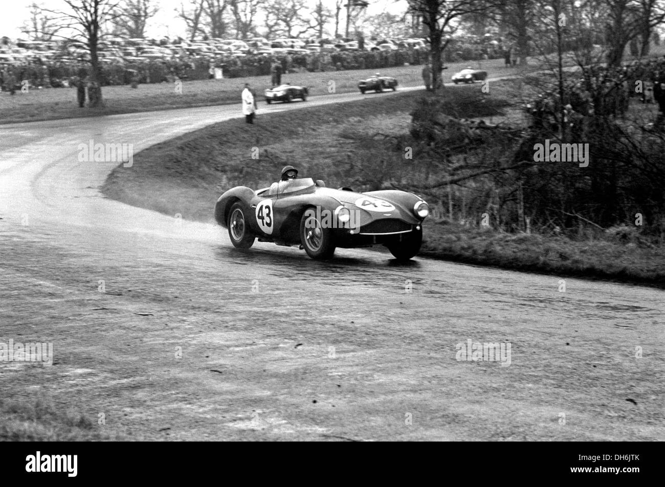 Ken Wharton Rennen in einem Aston Martin DB3S Veredelung 11. in der British Empire Trophy, Oulton Park, England Stockbild