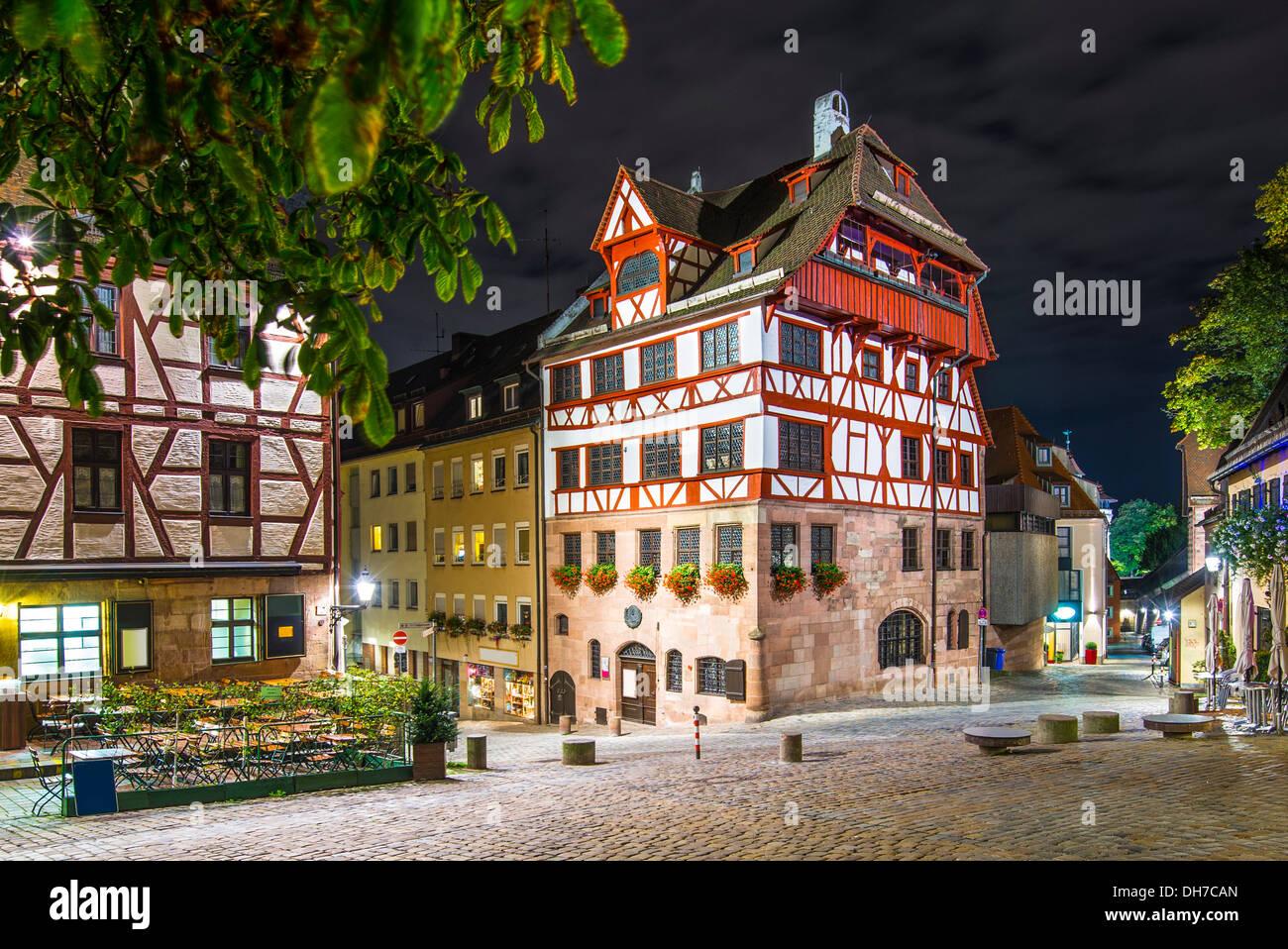 Albrecht-Dürer-Haus in Nürnberg. Stockbild