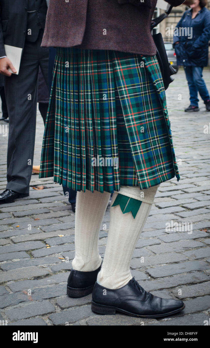 Traditionelle schottische kilt Stockbild