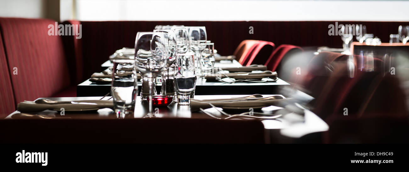 Fine-dining restaurant Stockbild