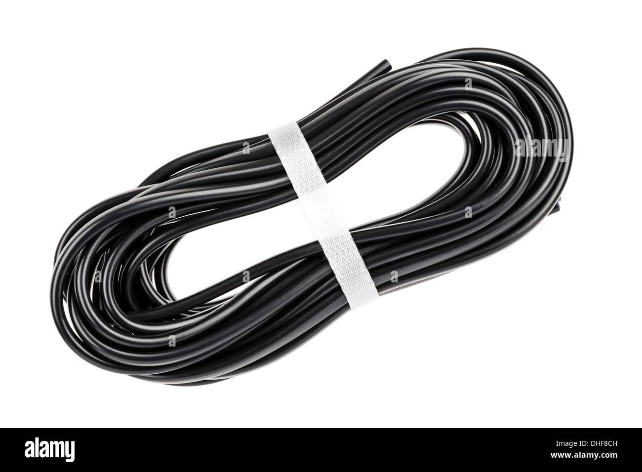 Schwarze Kabel Stockbild