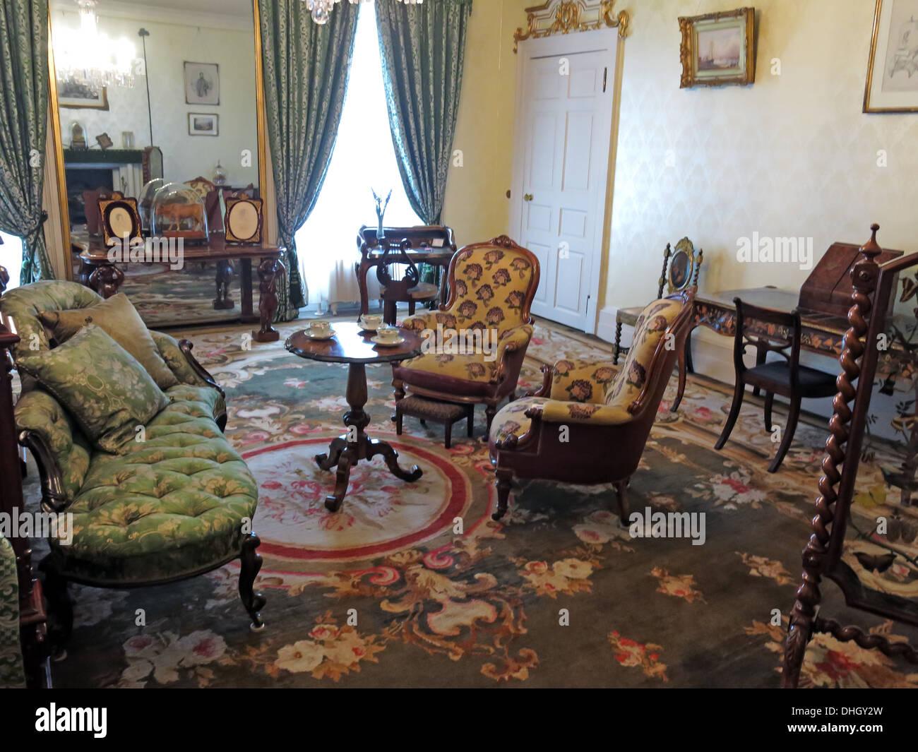 Laden Sie dieses Alamy Stockfoto Schlafzimmer, Dunham Massey, abends. NT in der Nähe von Altrincham, Cheshire, England, UK - DHGY2W