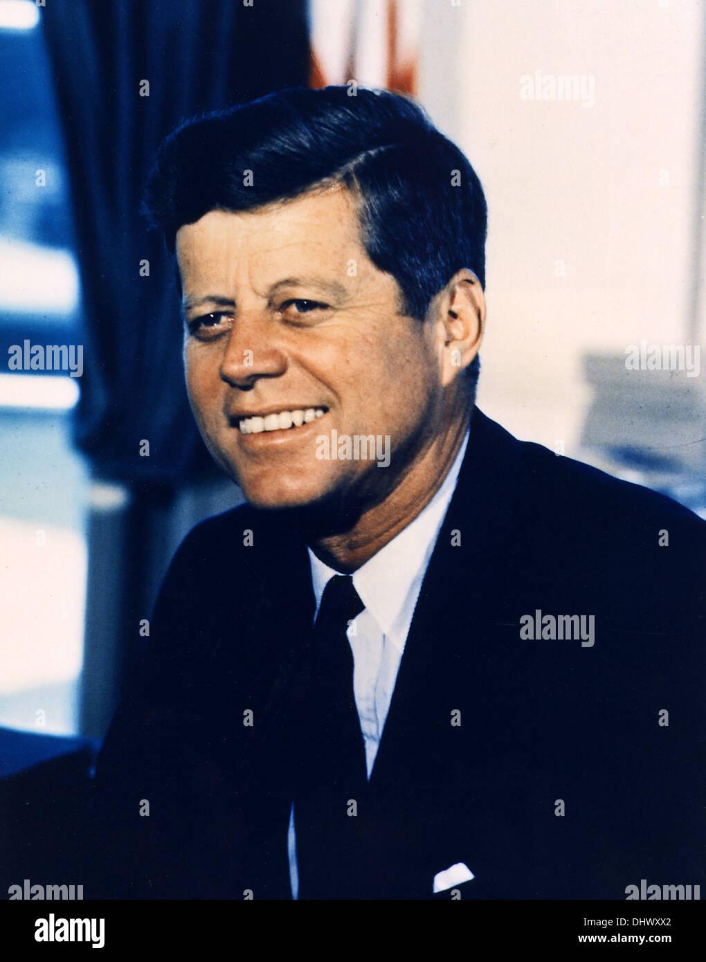 Präsident John F. Kennedy, der amerikanische Präsident JFK Stockfoto