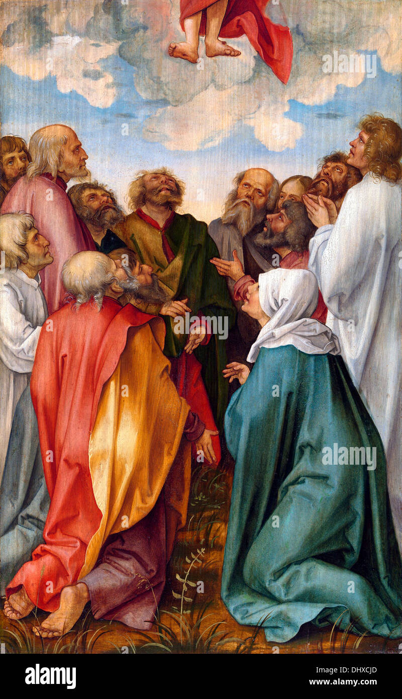 Die Himmelfahrt Christi - von Hans süss von Kulmbach, 1513 Stockbild