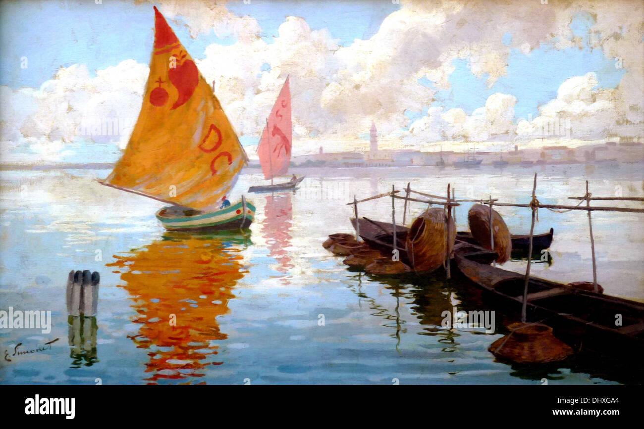 Venezianischen Marine - von Enrique Simonet, 1890 Stockbild