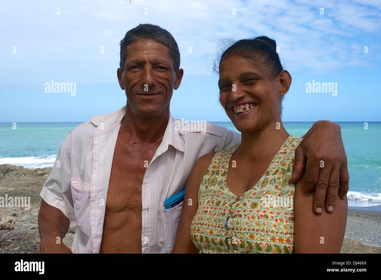 Kubanische Ehepaar Baracoa Stockbild