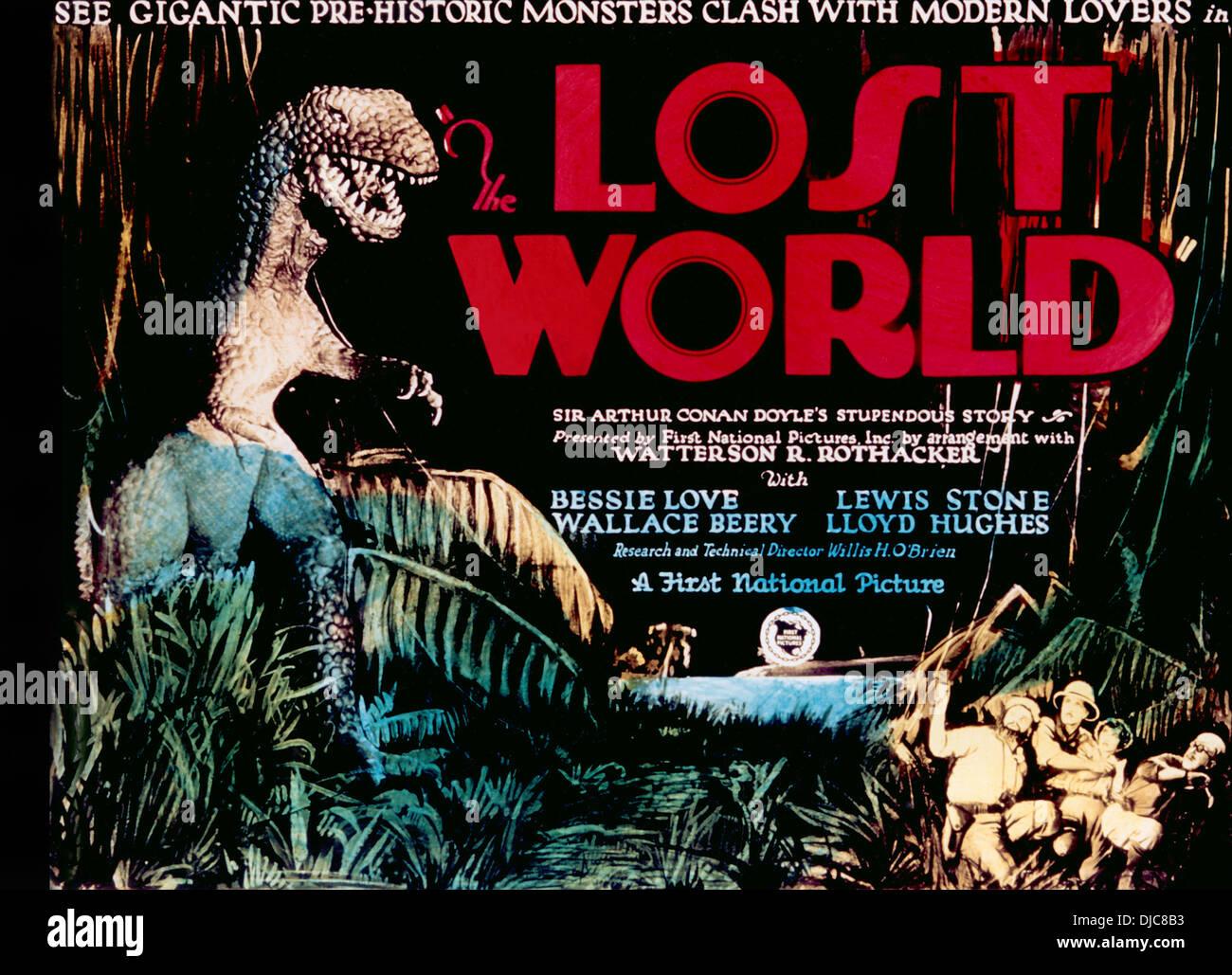 Film-Poster, die verlorene Welt, 1925 Stockbild