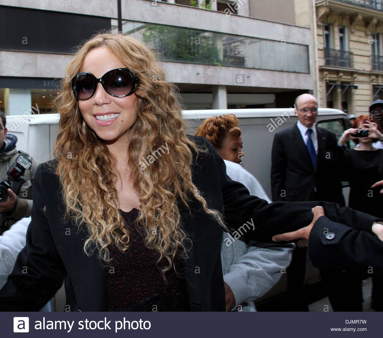 Mariah Carey und Ehemann Nick Cannon-Promi-paar feiern ihren vierten Jahrestag der Ehe Paris Frankreich - 27.04.12 Stockfoto