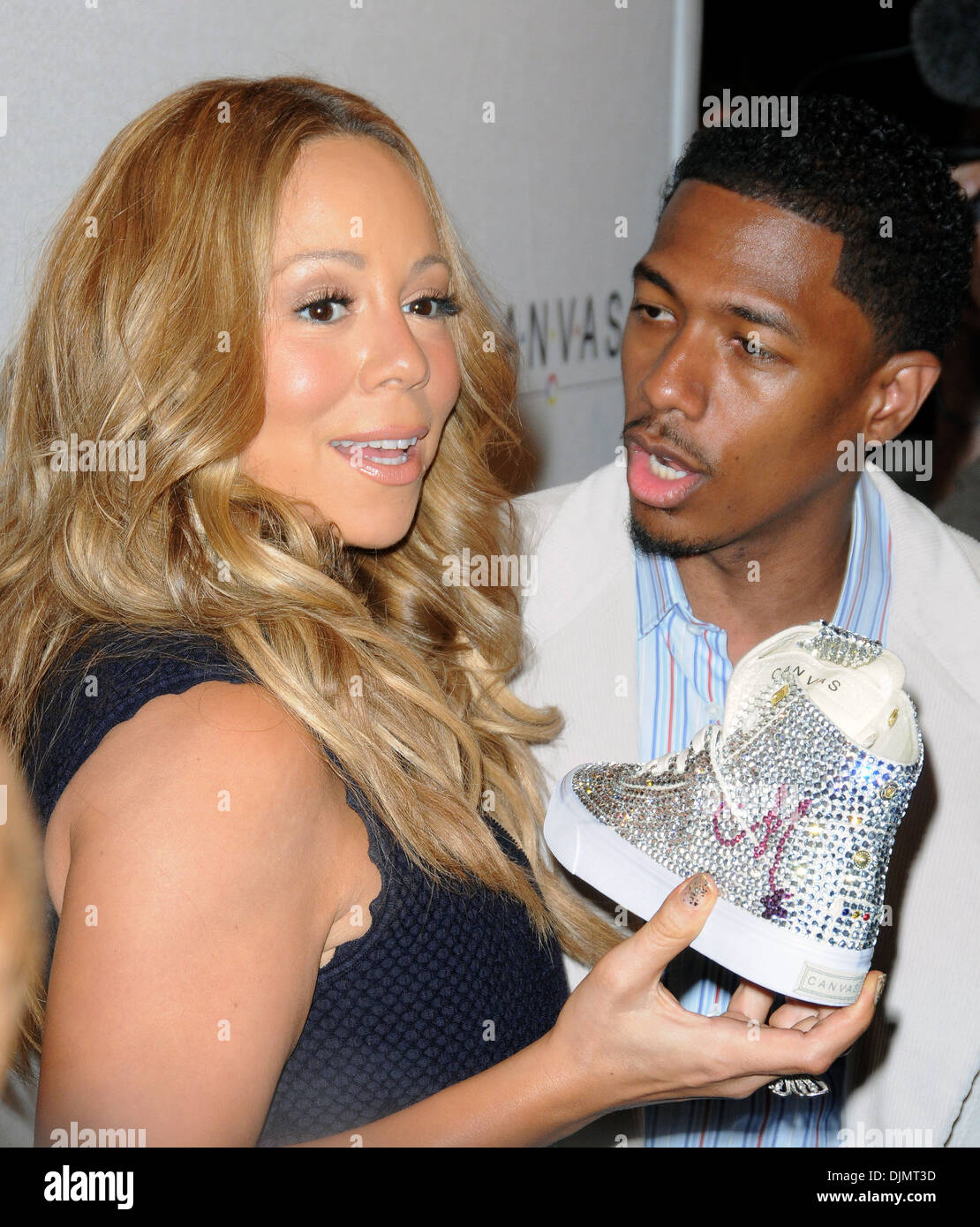 Mariah Carey und Ehemann Nick Cannon Projekt Leinwand Kunst Gala - Ankünfte Featuring: Mariah Carey und Ehemann Stockfoto