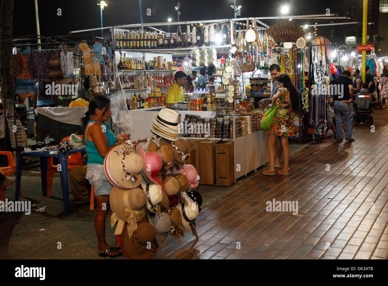 Feirinha Beira Mar Handwerk Messe, Fortaleza, Brasilien. Stockbild