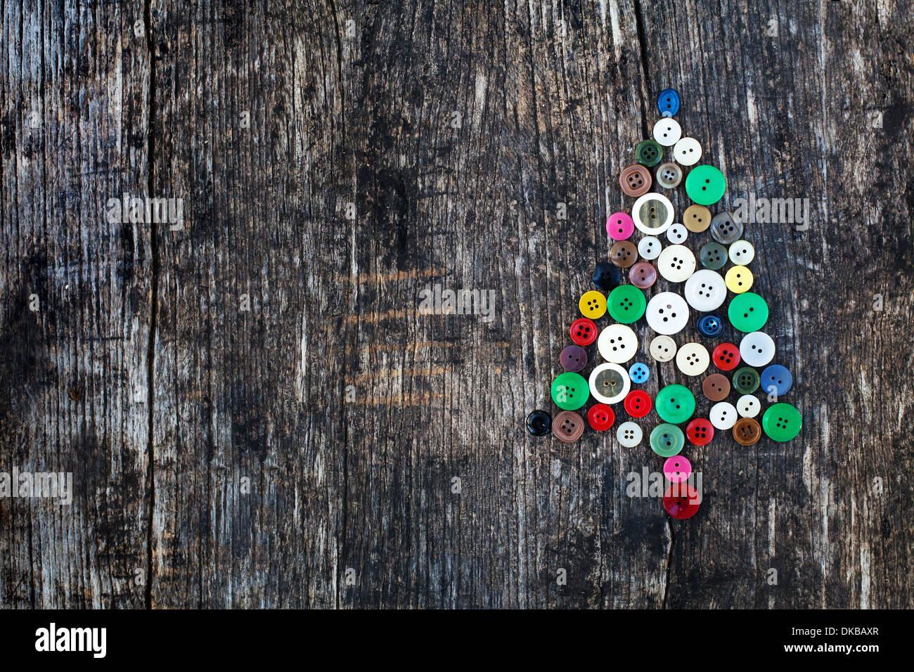 Neujahr-Hintergrund mit Weihnachtsbaum Stockbild
