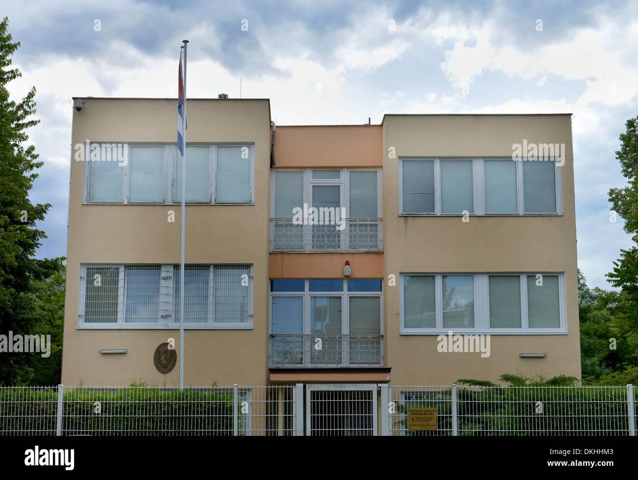 Beschaffenheit der Republik Kuba, Stavangerstrasse, Pankow, Berlin, Deutschland Stockbild