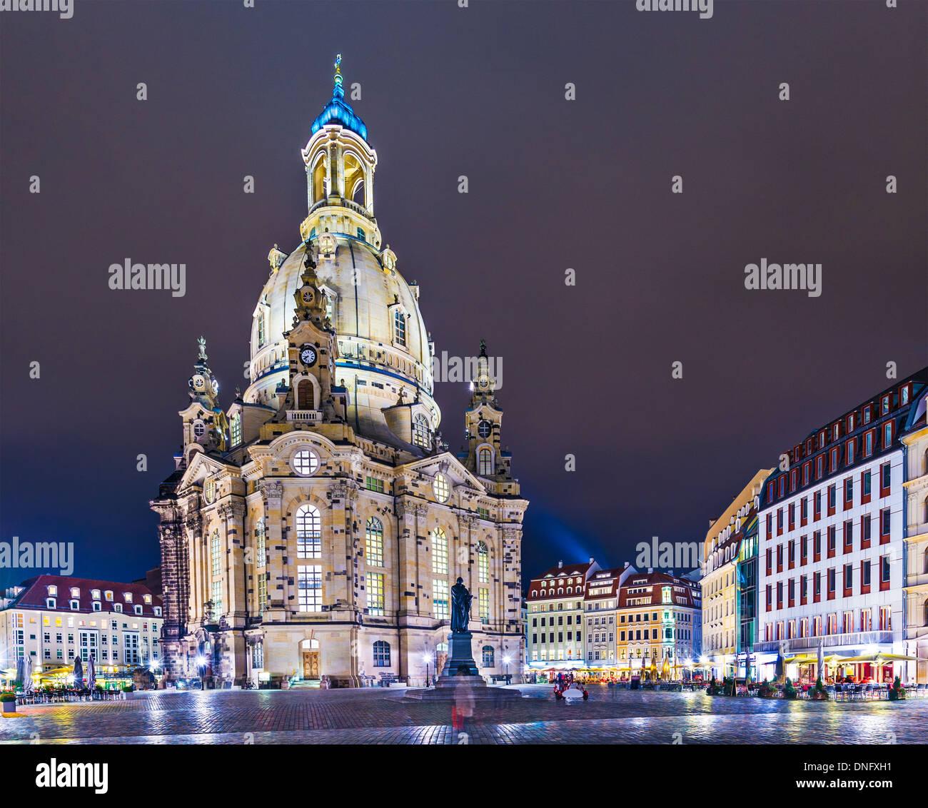 Dresden, Deutschland am Neumarkt-Platz. Stockbild