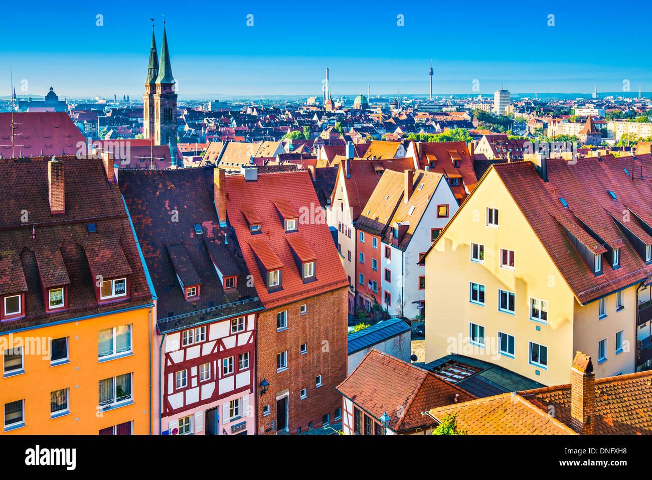 Skyline von historischen Nürnberg Stockbild