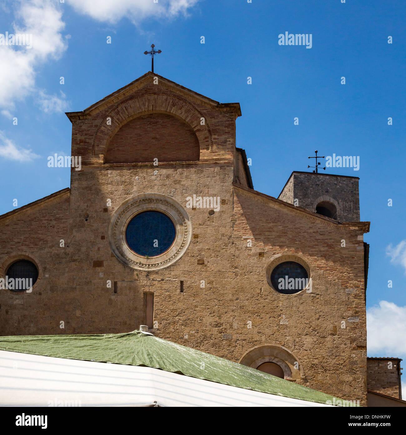 Kirche, Stiftskirche Kirche von San Gimignano, Piazza Del Duomo, San Gimignano, Siena, Provinz Siena, Toskana, Italien Stockbild