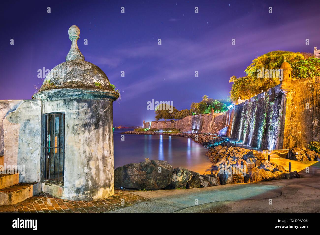 San Juan, Puerto Rico Küste am Paseo De La Princesa. Stockbild