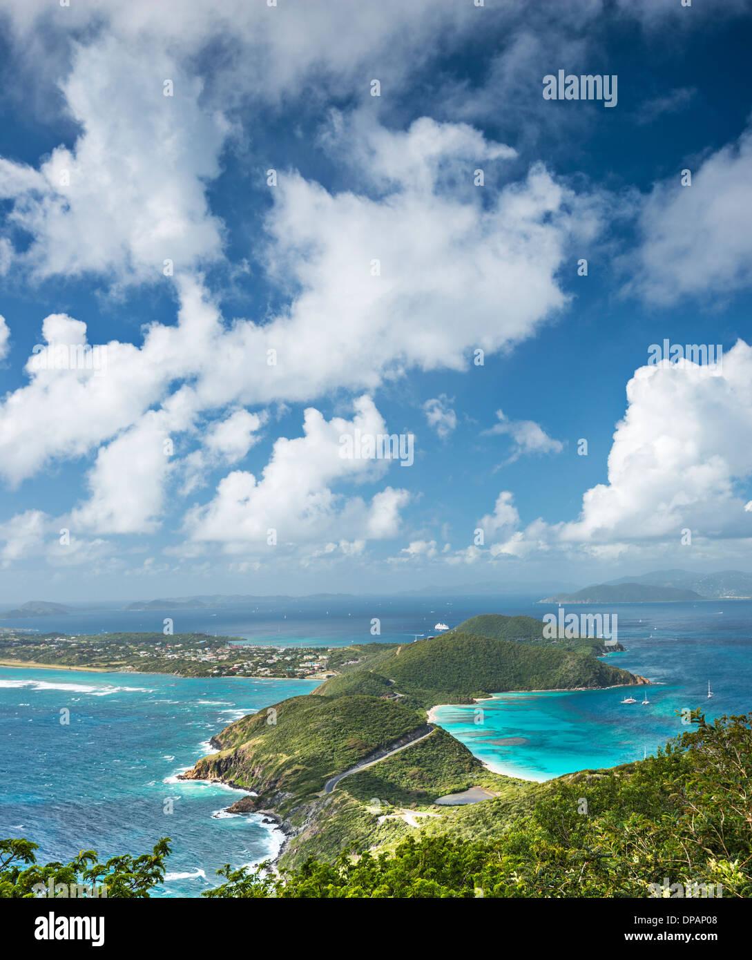 Virgin Gorda, Britische Jungferninseln in der Karibik. Stockbild