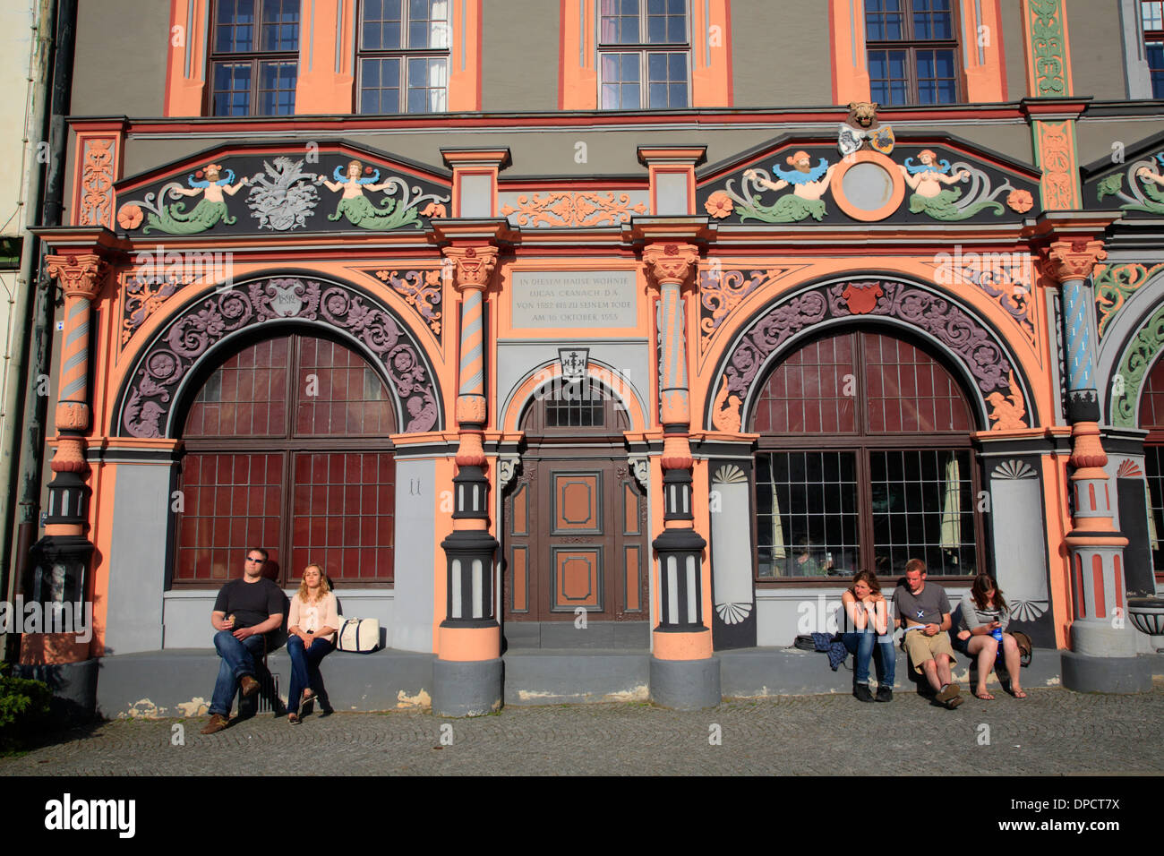 cranach haus am markt platz weimar deutschland europa stockfoto bild 65435998 alamy. Black Bedroom Furniture Sets. Home Design Ideas