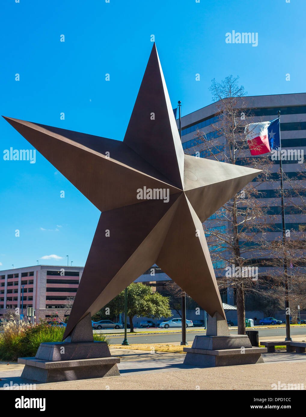 Bullock Texas State History Museum ist ein Museum in Austin, Texas Stockbild