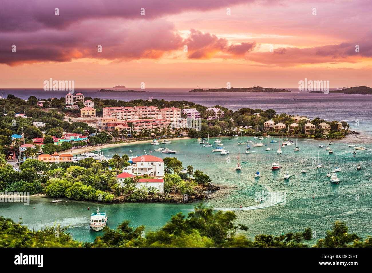 Cruz Bay, St. John, Amerikanische Jungferninseln. Stockbild